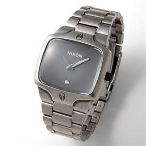 NIXON(ニクソン) PLAYER メンズ ブレス ウォッチ 1Pダイヤ A-140 A140-479/ブラック×シルバー - 拡大画像