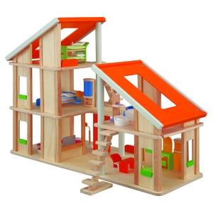 PLAN TOYS(プラントイ) ★木製玩具(木のおもちゃ)★7141★ 家具付きシャレードールハウス - 拡大画像