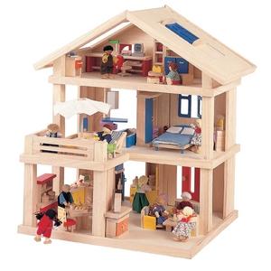 ★PLAN TOYSの木製玩具(木のおもちゃ)★71081★ テラスドールハウス - 拡大画像