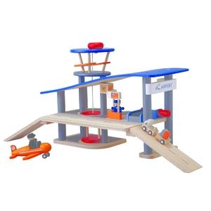 ★PLAN TOYSの木製玩具(木のおもちゃ)★6226★ エアポート - 拡大画像