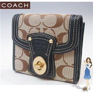 COACH(コーチ) レガシー シグネチャー フレンチ 3つ折り財布 ブラック 41956-BKHBK - 拡大画像