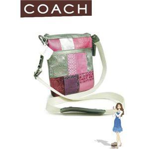 COACH(コーチ) ギャラリー パッチワーク スウィングパック マルチカラー ピンク 41944SVMC - 拡大画像
