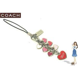 COACH(コーチ) ストラップ マルチ エナメル ハート セルフォン ランヤード 92262 - 拡大画像