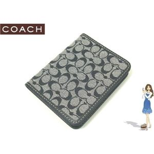 COACH(コーチ) シグネチャー トラベル ピクチャー フレーム パスケース ブラック 60350 - 拡大画像