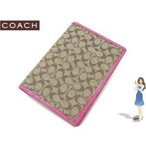 COACH(コーチ) パスポートケース シグネチャー ピンク 60354 - 拡大画像