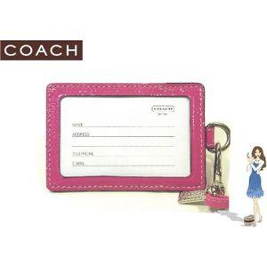 COACH(コーチ) IDカードネックストラップ シグネチャー ランヤード ピンク 60357 - 拡大画像