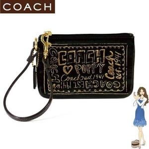 COACH(コーチ) バッグ ポピー パテント リストレット ブラック 42868 - 拡大画像