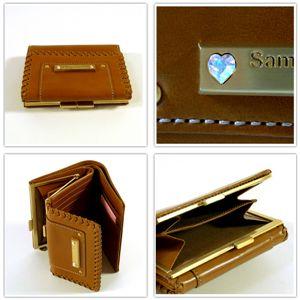 samantha Vega(サマンサベガ)セレブリティ ハートストーン 3つ折り財布 ブラック - 拡大画像