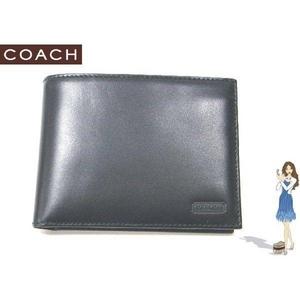 Coach(コーチ) 2つ折り財布 イングリッシュ ブライドル パスケース ID ウォレット ブラック S6485 - 拡大画像