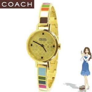 Coach(コーチ) 腕時計 ミランダ ゴールド プレイテッド バングル ウォッチ 14500975 - 拡大画像
