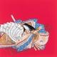 ■日本製高級風呂敷■丹後ちりめん浮世絵風呂敷[二巾]■百人一首■ - 縮小画像1