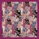 【箱入り】■日本製高級風呂敷■はいからもだん綿大ふろしき■寄裂古布(紫)■ - 縮小画像1