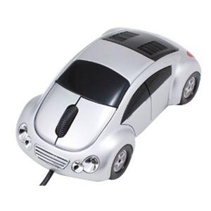 車型オプティカルマウス(スピーカー付) VR-16888 シルバー - 拡大画像