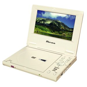 CPRM対応 7インチポータブルDVDプレイヤー CPT-708W - 拡大画像
