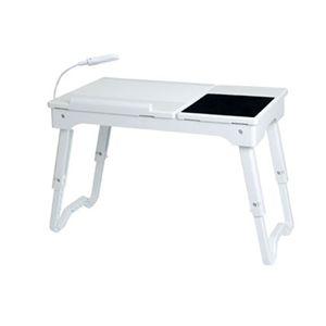 多機能ラップトップテーブル ホワイト - 拡大画像