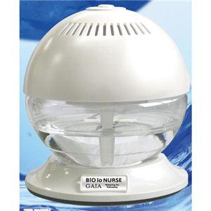 空気清浄機 【ホワイト】 幅182mm 抗菌 消臭 加湿 アロマ効果 ウイルス対策 『バイオイオナース Gaia』 〔リビング 寝室〕