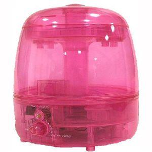 スケルトン超音波加湿器 CLV-129 ピンク - 拡大画像