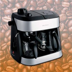 1台で3役分♪エスプレッソ・コーヒーメーカー - 拡大画像