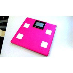 体重&体組成計 MULTI FUNCTION SCALE ピンク - 拡大画像