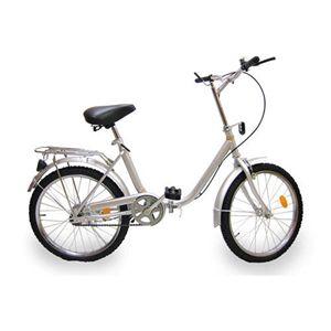 折り畳み自転車 20インチ シルバー - 拡大画像
