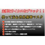 インフルエンザ、火山灰対策に!米国N95規格マスク 5枚入 (カップ型マスク) border=