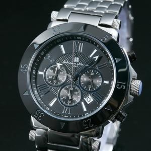 【Salvatore Marra】クロノグラフ腕時計 SM7019-BK - 拡大画像