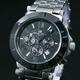 【Salvatore Marra】クロノグラフ腕時計 SM7019-BK - 縮小画像1