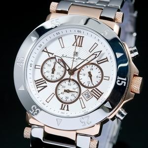 【Salvatore Marra】クロノグラフ腕時計 SM7019-PGWH - 拡大画像