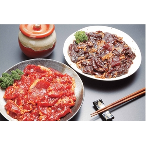 焼肉名店「ぱんが」特製 赤と黒の炭火焼肉壷漬カルビ5kgセット - 拡大画像