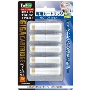 「TaEco」(タエコ)専用交換ギガカートリッジ(マイルドセブン愛煙者に好評[G-101])5本入り - 拡大画像