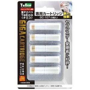 「TaEco」(タエコ)専用交換ギガカートリッジ(セブンスター愛煙者に好評[G-107])5本入り - 拡大画像