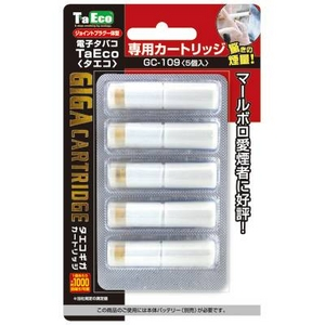 「TaEco」(タエコ)専用交換ギガカートリッジ(マールボロ愛煙者に好評[G-109])5本入り - 拡大画像