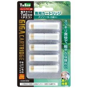 「TaEco」(タエコ)専用交換ギガカートリッジ(メンソール)5本入り - 拡大画像