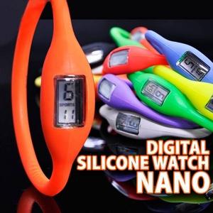 デジタル シリコン ウォッチ ナノ ネオン ピンク Mサイズ - 拡大画像