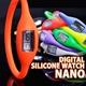 デジタル シリコン ウォッチ ナノ ネオン オレンジ Mサイズ - 縮小画像1