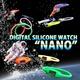 デジタル シリコン ウォッチ ナノ ネオン オレンジ Mサイズ - 縮小画像2