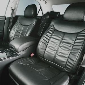 Dohm製 本革調シートカバー VIPモデル マークII・チェイサー・クレスタ用 【T151】 セダン ブラック 1台分 - 拡大画像