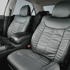 Dohm製 本革調シートカバー VIPモデル シーマ用 【N302】 セダン グレー 1台分 - 拡大画像