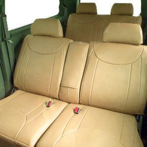 Dohm製 本革調シートカバー Executiveモデル オッティ用 【S-MI03】 軽自動車 ベージュ 1台分 - 拡大画像