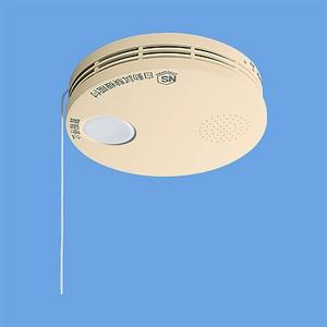 けむり当番 薄型 住宅用火災警報器 和室色 電池式 10年寿命 SH38455Y - 拡大画像