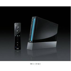 Wii本体 新パッケージ【クロ】  - 拡大画像