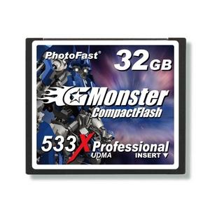 PhotoFast G-Monster 533倍速 PLUSテクノロジー コンパクトフラッシュカード32GB GM-533CF32ML - 拡大画像