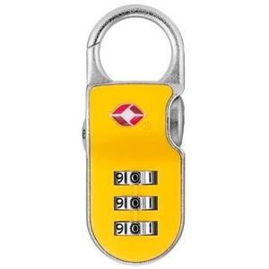 【防犯グッズ:旅行用】YALE(エール)旅行用TSAロック(CLIP ON LOCK)イエロー - 拡大画像