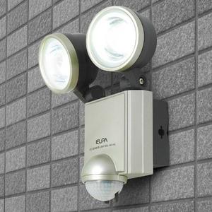 【防犯グッズ】【防水】ELPA LEDセンサーライト2灯  ESL-402AC - 拡大画像