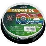 DVD+R DLデ-タ用メディア レーベル ワイドタイプ プリンタブル白10枚 HDD+R85HP10【10個セット】