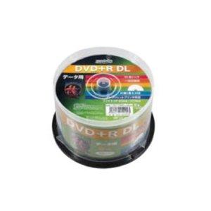 HIDISC DVD+R DLデ-タ用メディア レーベル ワイドタイプ プリンタブル白50枚スピンドル HDD+R85HP50 - 拡大画像