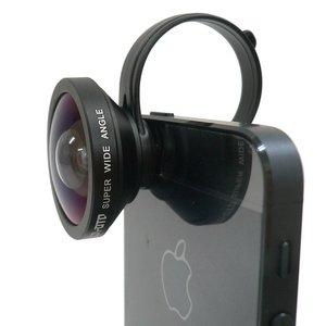 ルーメン クリップ固定式広角0.4倍レンズ ブラック LM-SMSWIDE-BK - 拡大画像
