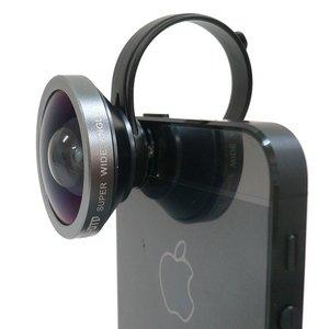 ルーメン クリップ固定式広角0.4倍レンズ ガンメタリック LM-SMSWIDE-GM - 拡大画像