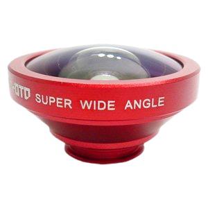 ルーメン クリップ固定式広角0.4倍レンズ レッド LM-SMSWIDE-RD - 拡大画像