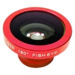 ルーメン クリップ固定式画角180°魚眼レンズ レッド LM-SMFISH-RD